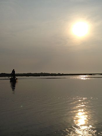 Sunrise at the Tonle Sap Lake