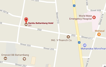Bambu Battambang Hotel - Location