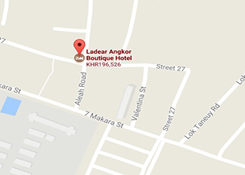 Map of Ladear Angkor Hotel